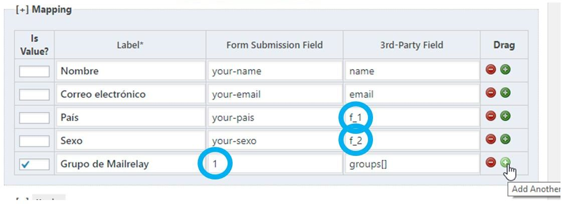 Configuración 3rd party contact form 7 Mailrelay WordPress