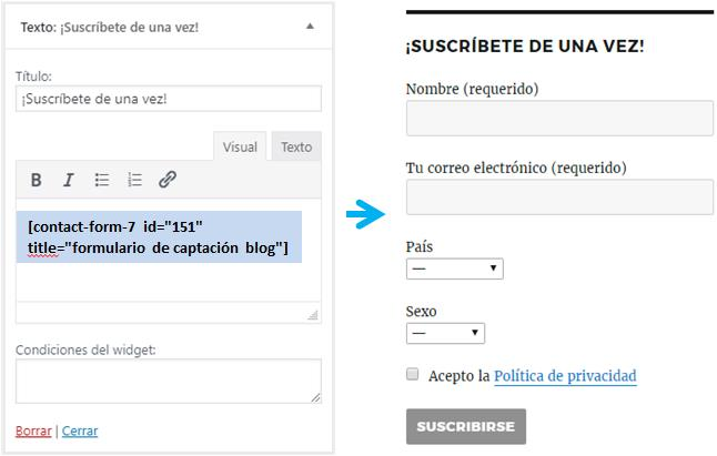 Integrar Mailrelay con WordPress en un widget